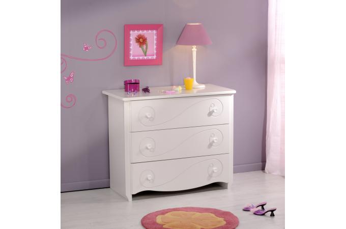 commode pour chambre enfant blanc laqu astrid design sur. Black Bedroom Furniture Sets. Home Design Ideas