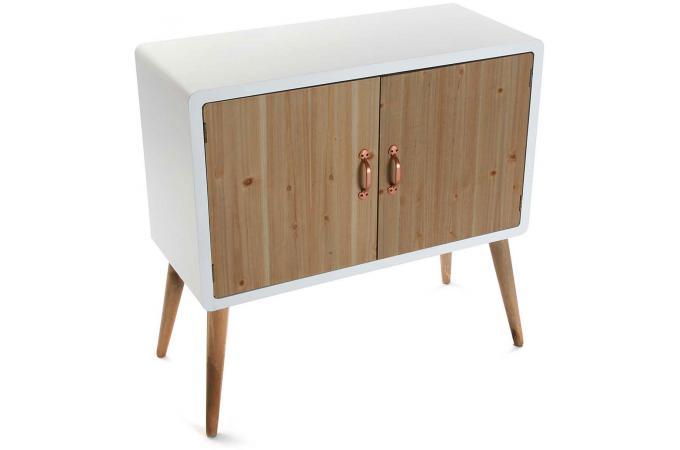 commode style scandinave blanche avec 2 portes en bois h77 badiane design sur sofactory. Black Bedroom Furniture Sets. Home Design Ideas