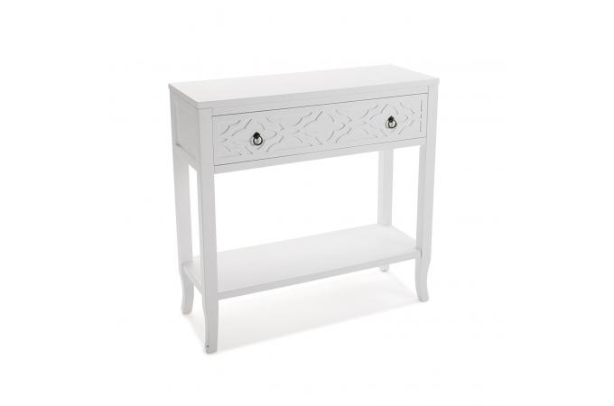 console 2 tiroirs en bois blanc sao design sur sofactory. Black Bedroom Furniture Sets. Home Design Ideas