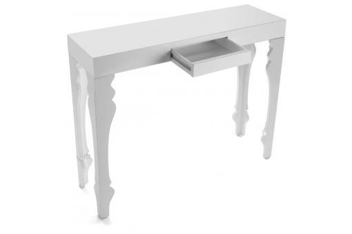console d 39 entr e blanche maello design en direct de l 39 usine sur sofactory. Black Bedroom Furniture Sets. Home Design Ideas
