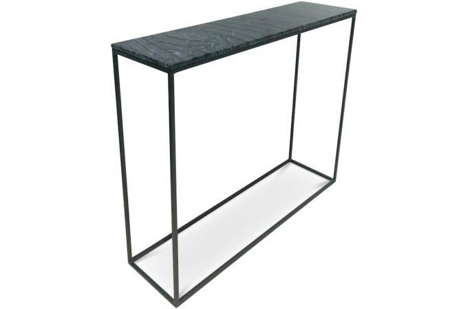 Console effet marbre noir fortuna design sur sofactory