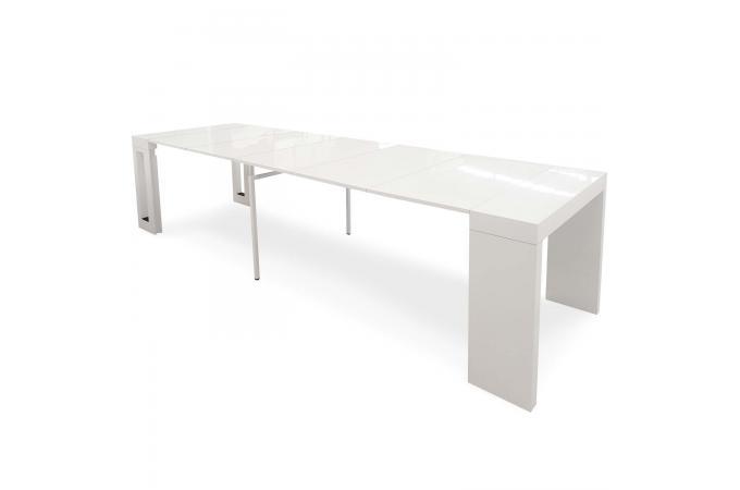 console extensible blanc laqu audrey design sur sofactory. Black Bedroom Furniture Sets. Home Design Ideas