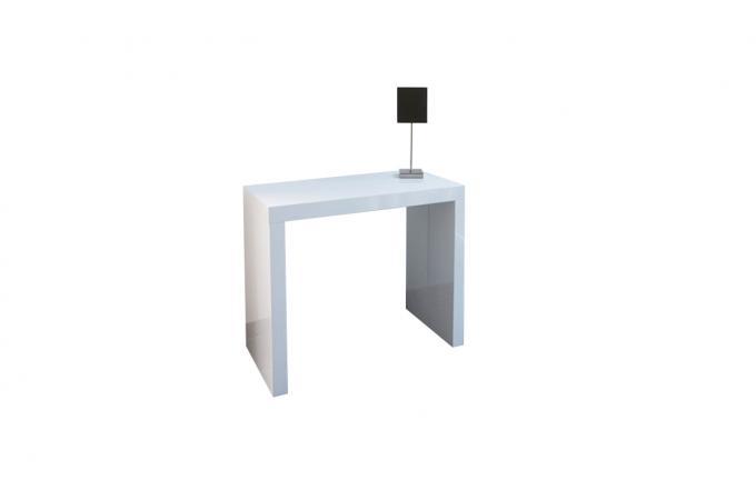 Console Extensible Blanche 225cm Laque Audrey Design Sur Sofactory