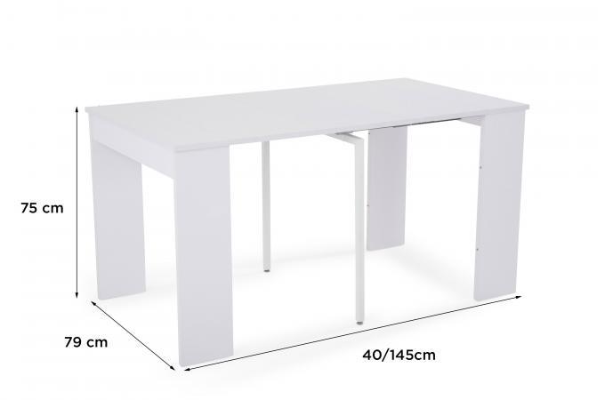 145cm San Sur Design Blanche Sofactory Francisco Extensible Console dBeorxC