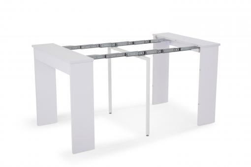 console extensible blanche 145cm san francisco design sur sofactory. Black Bedroom Furniture Sets. Home Design Ideas