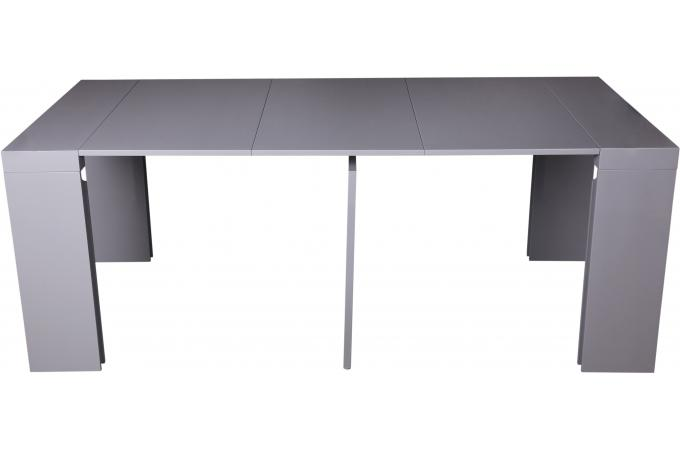 console extensible laqu e 180 cm grise marie line design. Black Bedroom Furniture Sets. Home Design Ideas