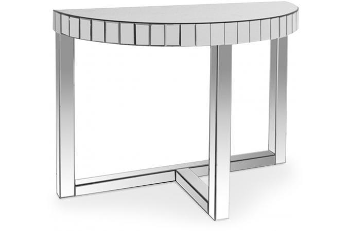 Console miroir demi lune popla design sur sofactory for Miroir sur la lune