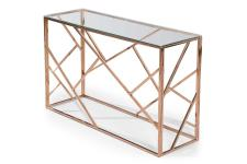 Console Or Rose Plateau Verre Transparent COUNDA Sofactory