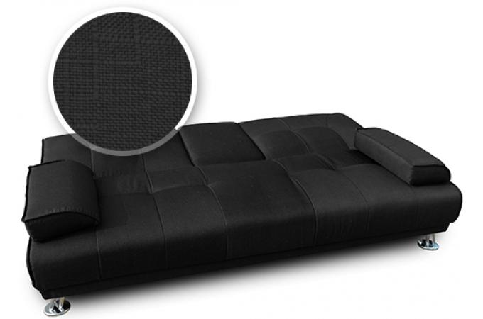Canap convertible 3 places tissu noir byzance design en direct de l 39 usin - Avis canape convertible ...