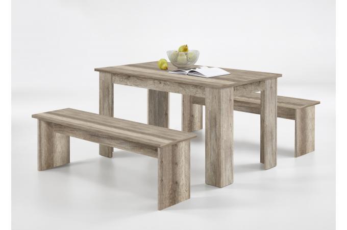 Ensemble Table 2 Bancs Marron Bois Neleyn Design Sur Sofactory