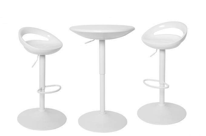 ensemble table 2 tabourets bar blanc estacada design sur sofactory. Black Bedroom Furniture Sets. Home Design Ideas