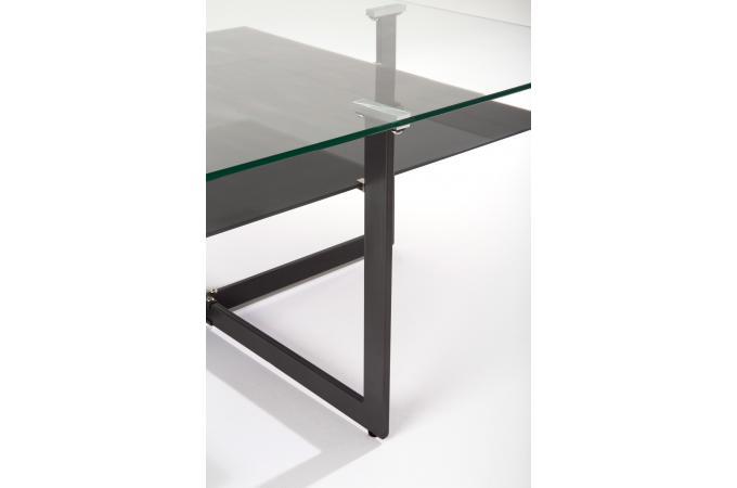ensemble table basse verre et 4 poufs multicolores torila design sur sofactory. Black Bedroom Furniture Sets. Home Design Ideas