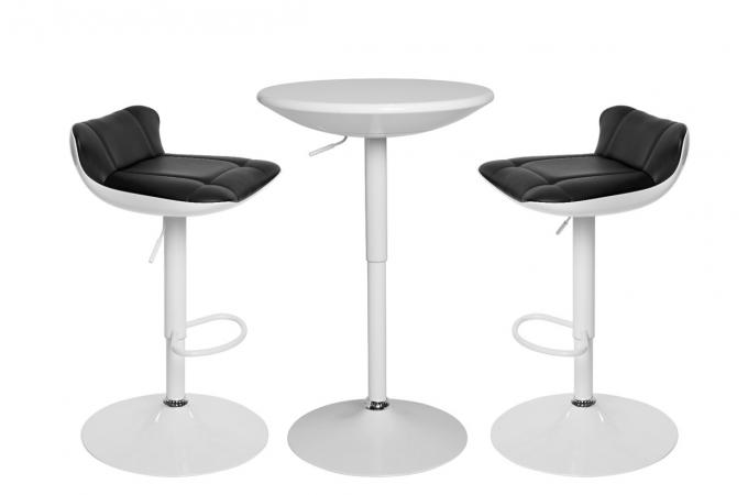 ensemble table haute et 2 tabourets paul design sur sofactory. Black Bedroom Furniture Sets. Home Design Ideas