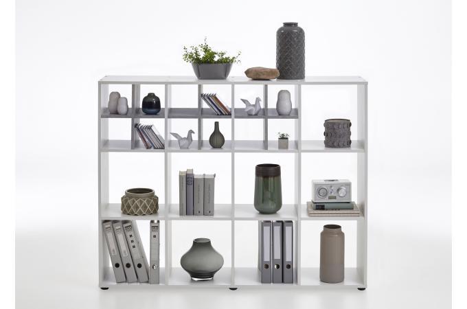 Etagère Bibliothèque Gris Béton Blanc Rangah Design Sur Sofactory