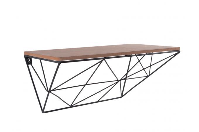 Etagère Filaire Bois Métal Noir Alali Design Sur Sofactory