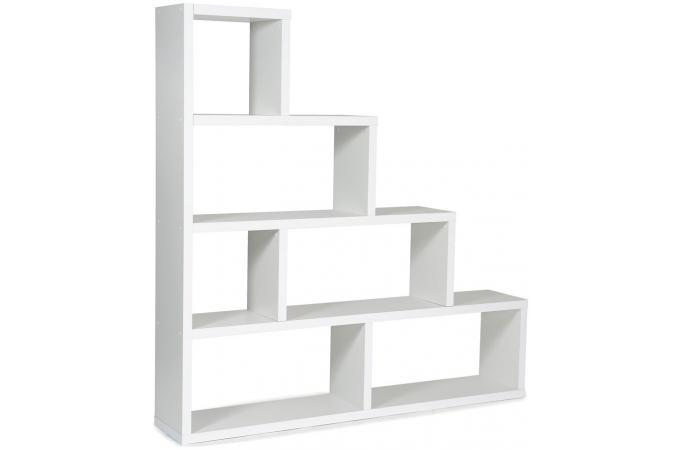 etag re escalier 6 compartiments stairway blanc design sur sofactory. Black Bedroom Furniture Sets. Home Design Ideas