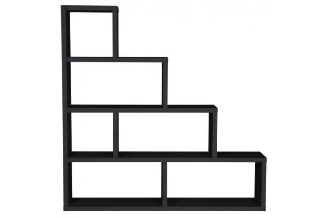 etag re escalier 6 compartiments stairway noir design sur sofactory. Black Bedroom Furniture Sets. Home Design Ideas