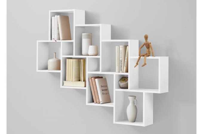 Etagère Murale Blanc Brillant Quol Design Sur Sofactory