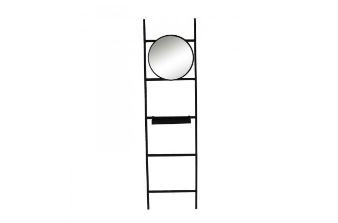 Echelle Avec Etagère Miroir Métal Noir Cocha Design Sur Sofactory