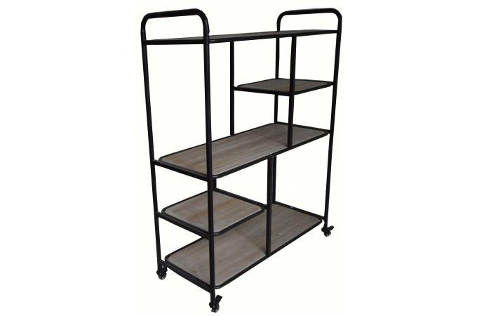 etag re roulettes en m tal et bois opalio design sur sofactory. Black Bedroom Furniture Sets. Home Design Ideas