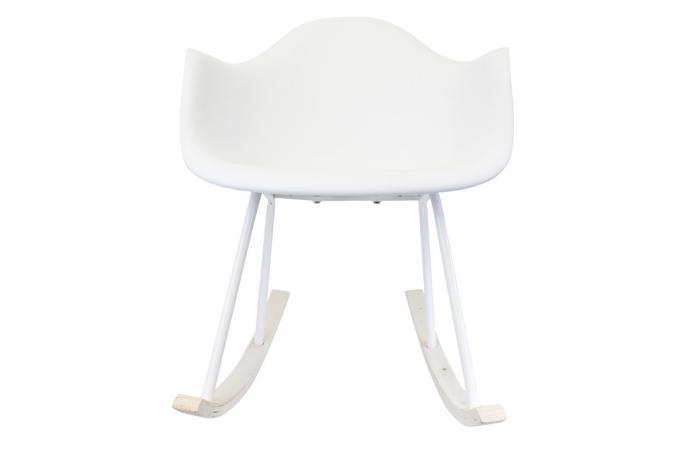 fauteuil a bascule blanc karl design sur sofactory. Black Bedroom Furniture Sets. Home Design Ideas