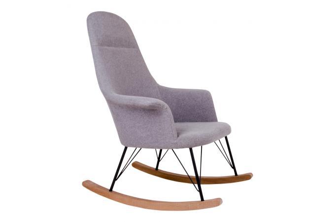 fauteuil bascule scandinave gris enora design sur sofactory. Black Bedroom Furniture Sets. Home Design Ideas