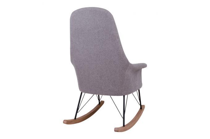 Fauteuil A Bascule Scandinave Gris Enora Design Sur Sofactory