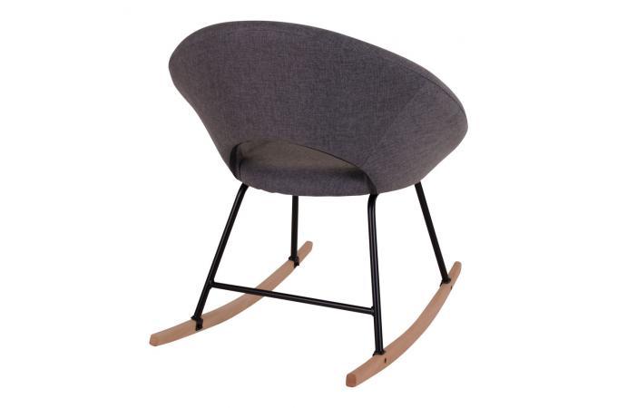 Fauteuil A Bascule Scandinave Gris Oliver Design Sur Sofactory