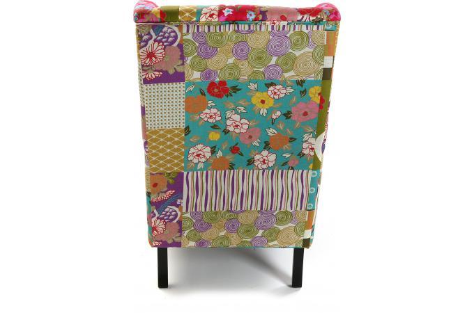 fauteuil bergre en tissu patchwork rosa - Fauteuil Bergere