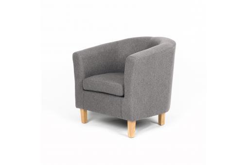fauteuil cabriolet gris lima design sur sofactory. Black Bedroom Furniture Sets. Home Design Ideas