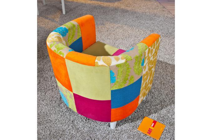 Fauteuil Cabriolet Patchwork Multicolore JOAO Design Sur SoFactory - Fauteuil multicolore design