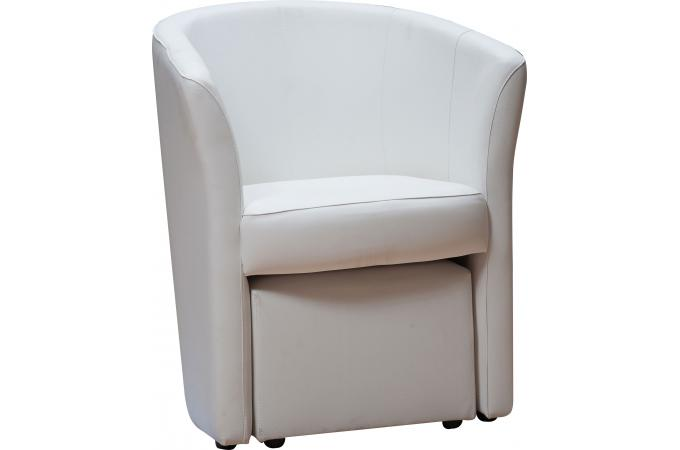 fauteuil cabriolet repose pieds blanc belize design sur sofactory. Black Bedroom Furniture Sets. Home Design Ideas