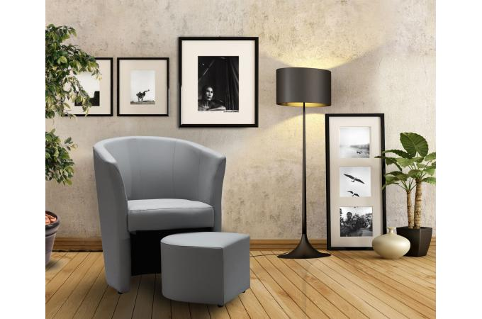 fauteuil cabriolet repose pieds gris belize design sur sofactory. Black Bedroom Furniture Sets. Home Design Ideas