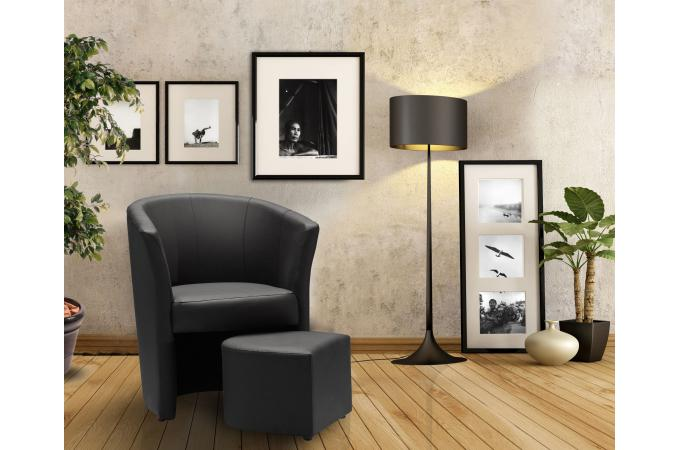 fauteuil cabriolet repose pieds noir belize design sur. Black Bedroom Furniture Sets. Home Design Ideas