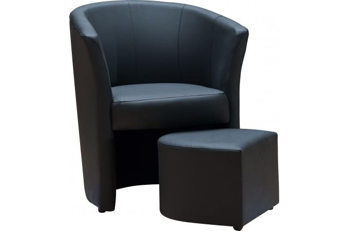 fauteuil cabriolet repose pieds noir belize design sur sofactory. Black Bedroom Furniture Sets. Home Design Ideas