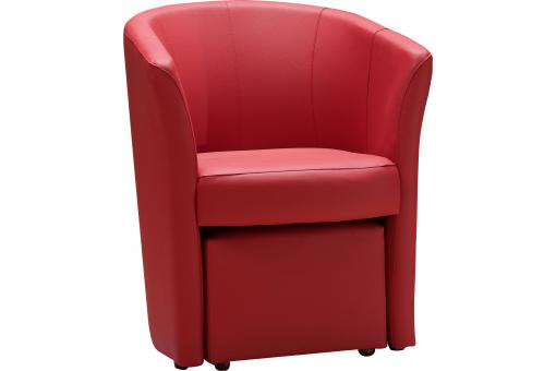 fauteuil cabriolet repose pieds rouge belize design sur. Black Bedroom Furniture Sets. Home Design Ideas