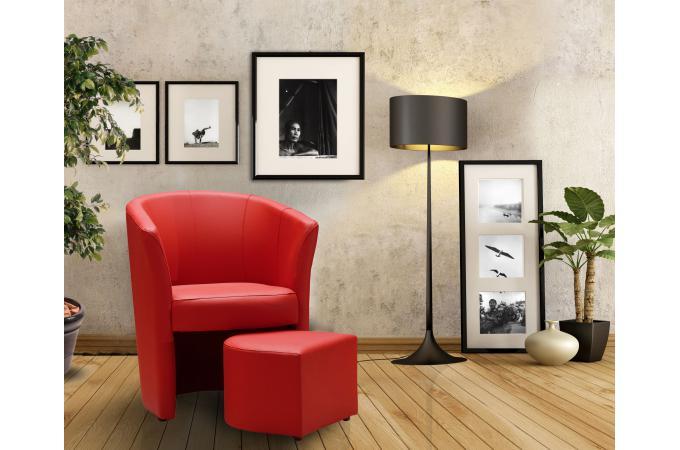 fauteuil cabriolet repose pieds rouge belize design sur sofactory. Black Bedroom Furniture Sets. Home Design Ideas
