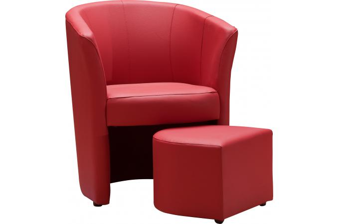 fauteuil cabriolet repose pieds rouge belize design sur sofactory. Black Bedroom Furniture Sets. Home Design Ideas