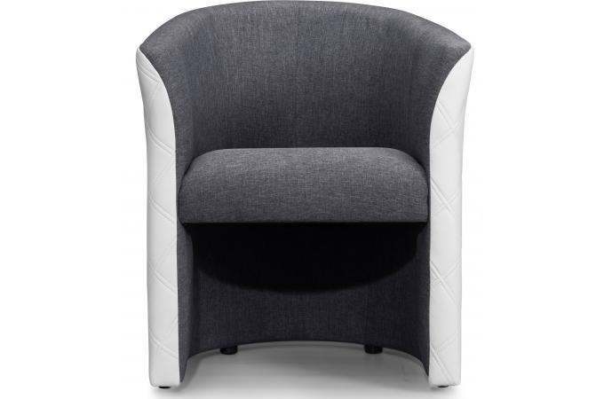 fauteuil cabriolet tissu gris blanc belize design sur sofactory. Black Bedroom Furniture Sets. Home Design Ideas