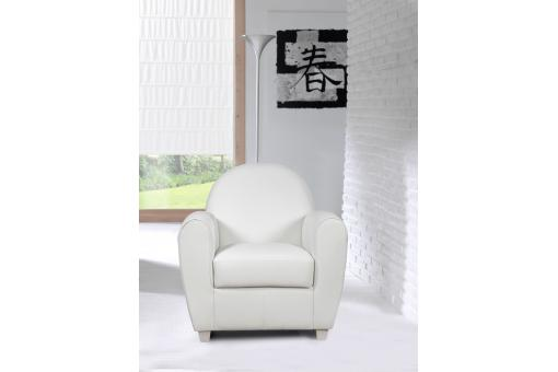 Fauteuil Club Blanc PATRICIA Fo223836-0000