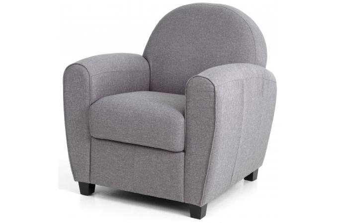 fauteuil club tissu gris clair patricia design sur sofactory. Black Bedroom Furniture Sets. Home Design Ideas