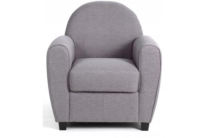 fauteuil club tissu gris clair patricia design sur sofactory. Black Bedroom Furniture Sets. Home Design Ideas