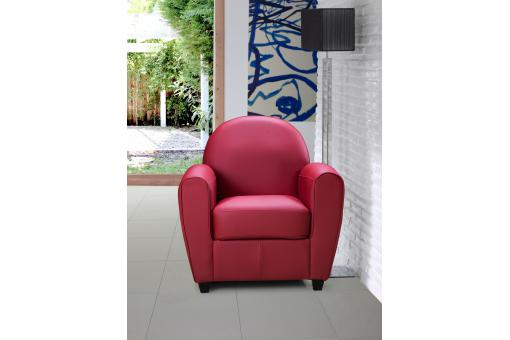 Fauteuil Club Rouge PATRICIA Fo223838-0000