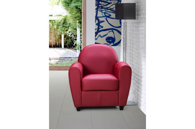 Fauteuil Club Rouge PATRICIA Design Sur SoFactory - Fauteuil club rouge