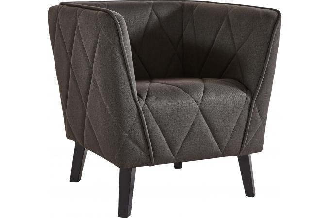 Fauteuil club taupe TARMAC