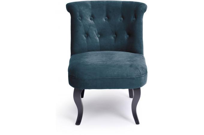fauteuil crapaud capitonn bleu england design sur sofactory. Black Bedroom Furniture Sets. Home Design Ideas