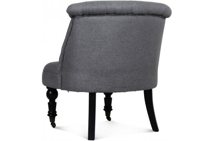 fauteuil crapaud capitonn a roulettes gris ulysse design sur sofactory. Black Bedroom Furniture Sets. Home Design Ideas