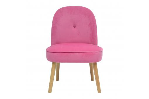 Fauteuil Crapaud Scandinave Rose POLDINE Fr257857-0000