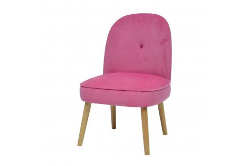 Fauteuil Crapaud Scandinave Rose POLDINE SoFactory