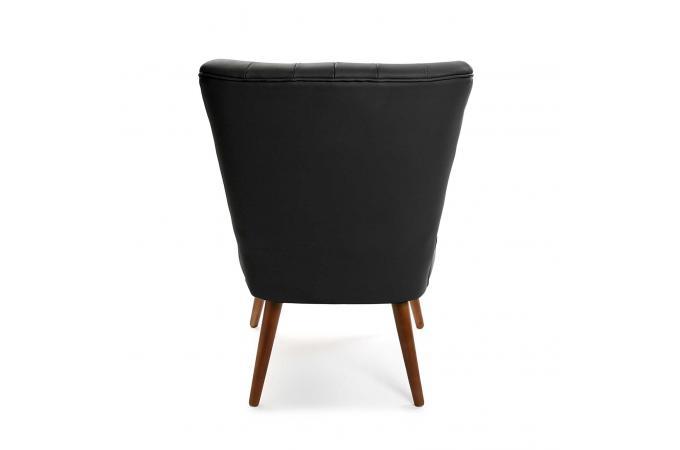 fauteuil crapaud simili noir brandy design sur sofactory. Black Bedroom Furniture Sets. Home Design Ideas